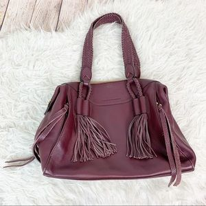 AIMEE KESTENBERG Leather Tassel Braided Purse